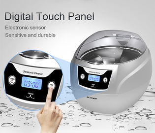 750ml Portable Household Ultrasonic Cleaner With Touch Control Panel